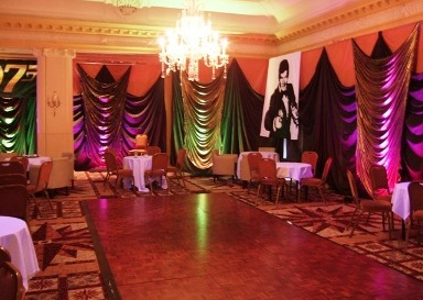 James bond themed event decor for 007 room decor