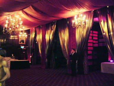 Silk Draping Event Decor
