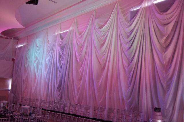 Wall draping decor