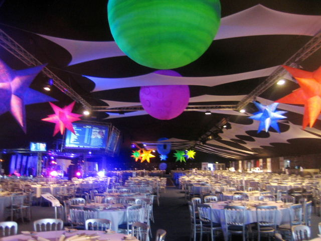 Space theme uv decor for events for Outer space classroom decor